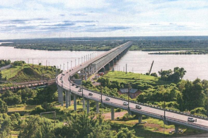 ΧΑΜΠΑΡΟΒΣΚ. Γέφυρα στον ποταμό Αμούρ