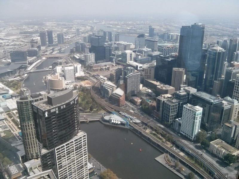 Μελβούρνη από τον 88ο όροφο 92οροφου κτιρίου