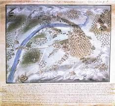 Αναπαράσταση της μάχης του Πέτα. Έργο του Παναγ. Ζωγράφου καθ' υπόδειξη του Στρατηγού Μακρυγιάννη.