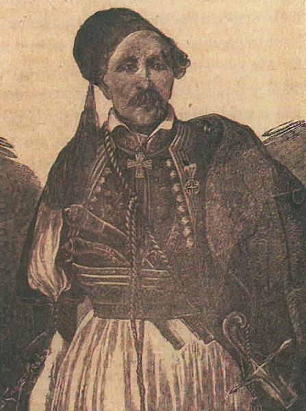 Ο στρατηγός Γιαννάκης Ράγκος. Ξυλογραφία