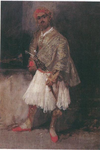 Έλληνας αρματολός. Ελαιογραφία του Richard P. Bonington