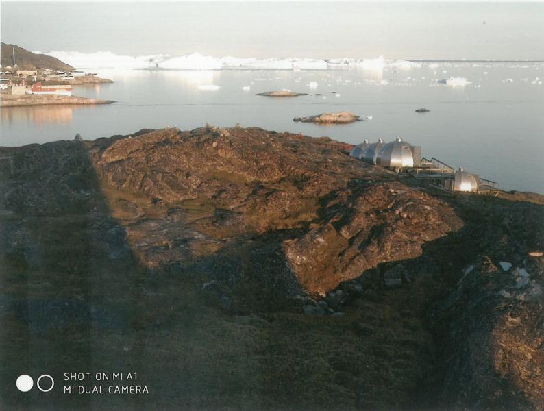 Γροιλανδία, πόλη και όρμος Ιλλουλισάτ. Φωτογραφία 4.00 τα ξημερώματα